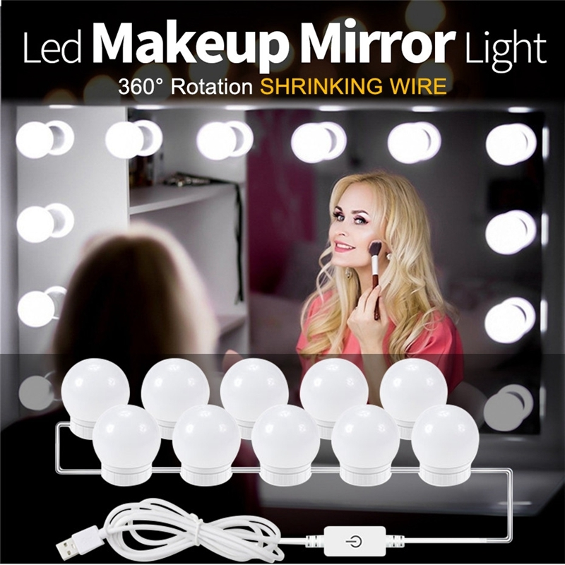Usb led 5v makeup lamp wall light beauty 2 6 10 14 bulbs kit