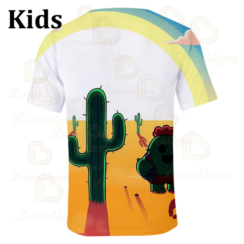 Spike Wanted 6 To 19 Years Kids Leon T-shirt Shooting Game PRIMO 3D Tshirt Boys Girls Gameing Cartoon T-shirt Tops Teen Clothes  - buy with discount