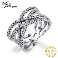Beatiuful として jewelrypalace 925 スターリングシルバー絡み合っ声明リングジュエリーのための女性の最高のギフト