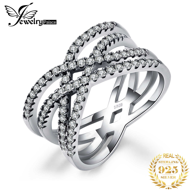 Jewelrypalace 925 เงินสเตอร์ลิง Intertwined แหวนเช่น Beatiuful เครื่องประดับใหม่ร้อนขายผู้หญิงที่ดีที่สุดของขวัญ