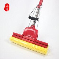 27cm chiński czerwony absorbujące wodę Mop z gąbką leniwy Mop rolki gospodarstwa domowego Mop z PVAL darmowe pranie ręczne|Mopy|   -