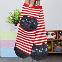 Clothing Shoes & Accessories Socks 1pc 3d Animals Striped Cartoon Socks Women Cat Footprints Cotton Summer Socks Floor 2020 New(China)