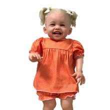 New 24inch Reborn Girl Baby Dolls Newborn Doll Full Silicone Body Doll Realistic Toddler Babies Kids Toy Gifts Baby Golden Hair