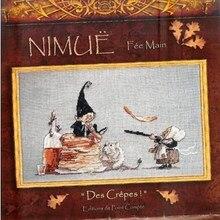 Kit de crêpes en point de croix, Collection dorée, jolies crêpes, Nimue Nium