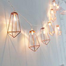 Neuheit LED Lichterkette 20 Metall String Licht Batterie Betrieben Party weihnachten lichter für Halloween Party Hochzeit Dekoration