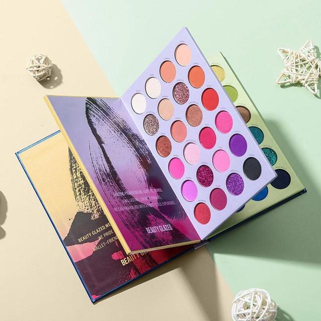 Beauty Glazed-paleta de sombras de ojos, 72 colores, tres capas, estilo libro, maquillaje cosmético, sombra de ojos perlada mate 1