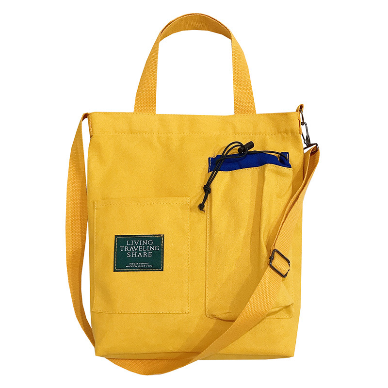 2019 New Casual Multi-pocket Large-capacity Canvas Women's Bag Shoulder Bag Women's Messenger Bag