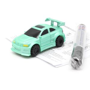 Hot Engineering Vehicles Mini Magic Toy Truck Children's Inductive Truck Toys Figure Tank Car Pen Draw Induction Lines Rail Car(China)