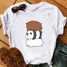 Maycaur Funny Bears T Shirts Harajuku Women Kawaii Panda Bear Animal Printed T-shirt Camiseta Mujer