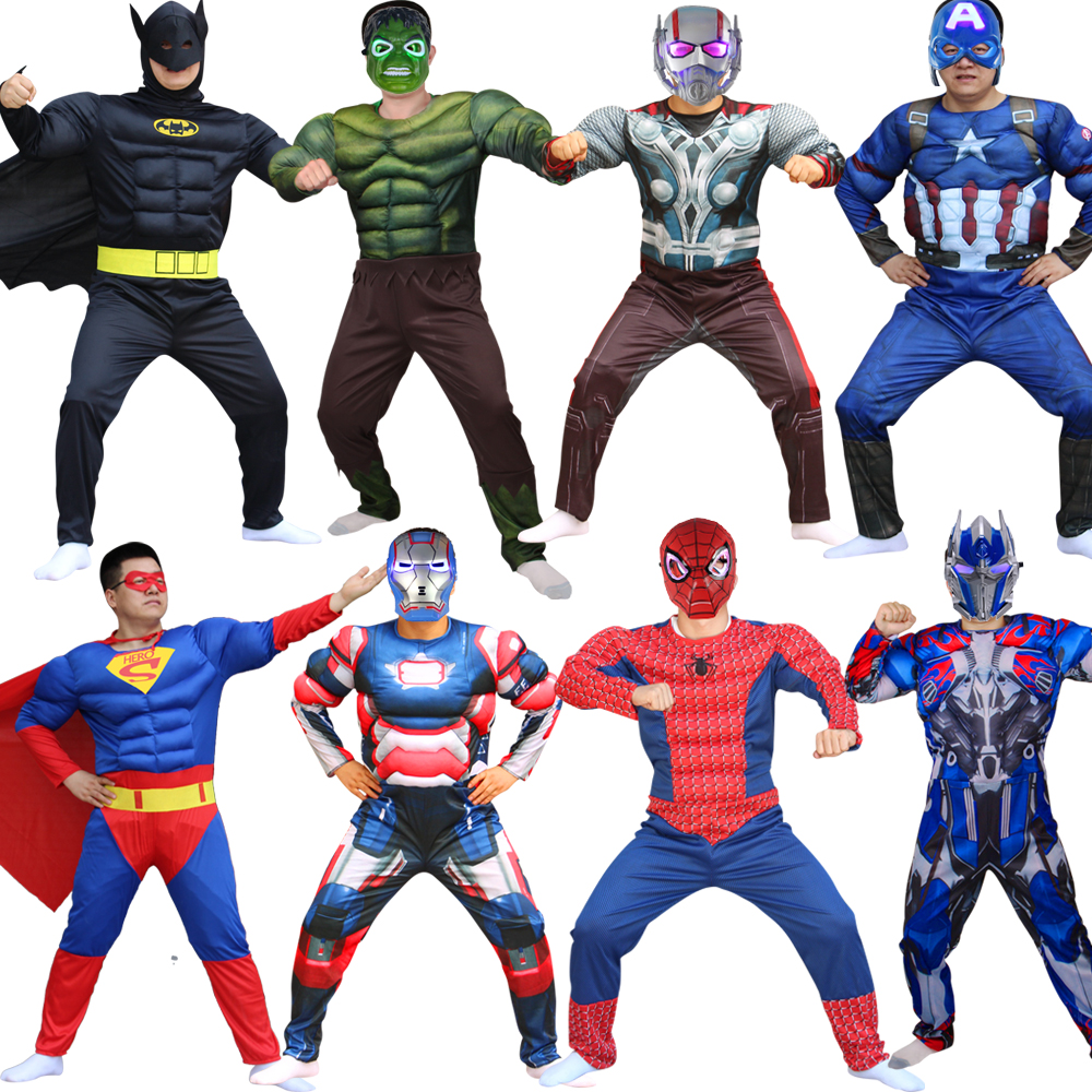 Childrens clothing adult Halloween anime show costumes Iron man suit muscle iron free shipping