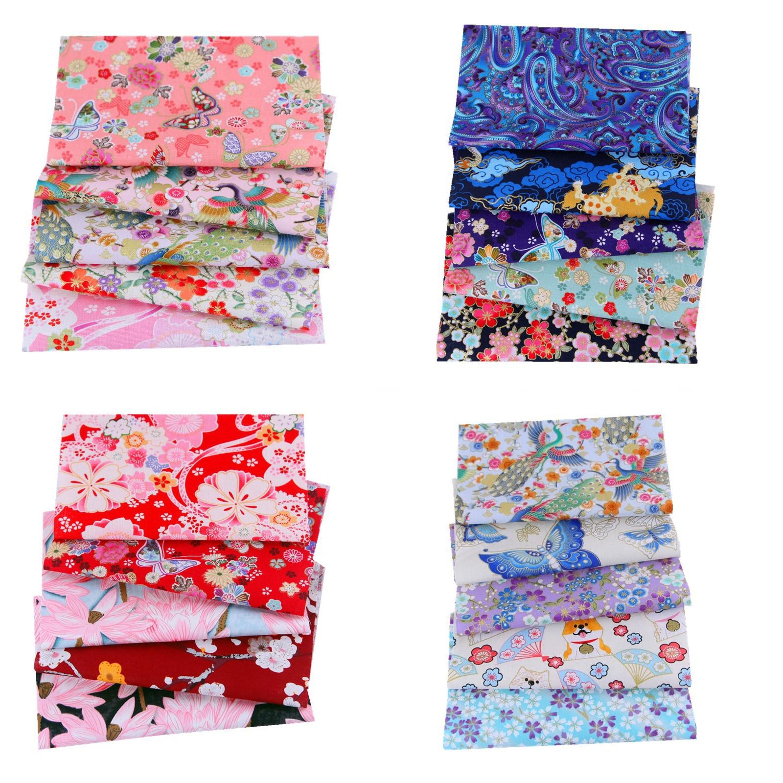 4 Sheet/5 Sheet/6 Sheet/pack 20*25CM Apparel Fabric Floral Print Cloth Material Cotton DIY Handmade Patchwork Sewing Supplies