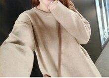 الشتاء سماكة محبوك النساء 2 قطعة بانت مجموعات جديد أزياء عارضة الصلبة اللون الدافئة السترة سترة و واسعة الساق الربتات مجموعات