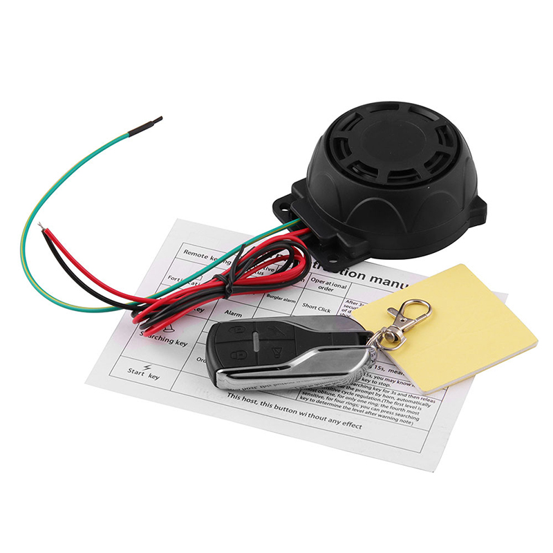 Motorcycle Bike Vehicle Alarm Anti Theft Security System Lock With Easy Arming/Disarming NJ88