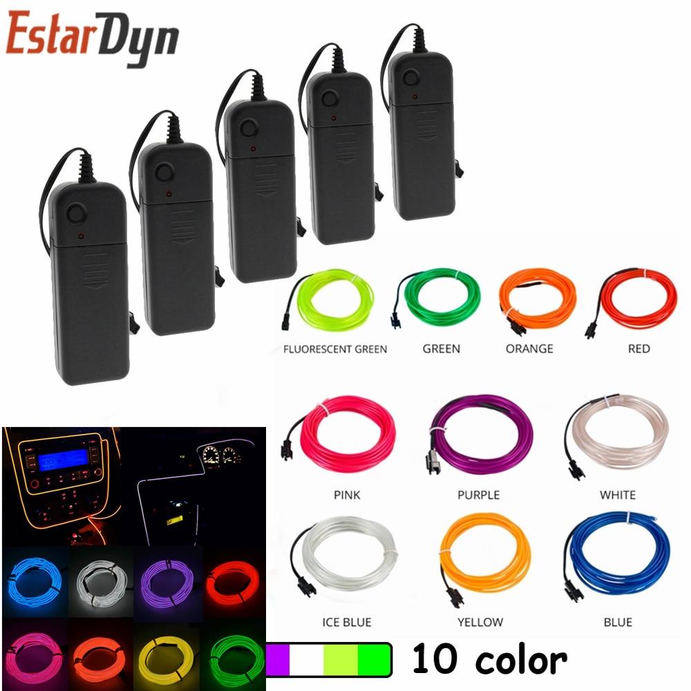 1M/2M/3M/5M/ 5V  Flexible Neon Light Dance Party Decor Light Neon LED Lamp Flexible EL Wire Rope Tube Waterproof LED Strip