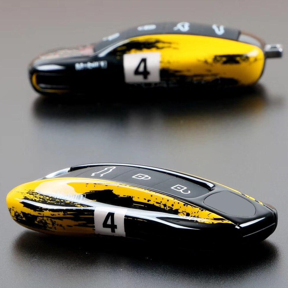 Étui à clés de voiture pour Porsche Macan Boxster Cayenne Panamera 911 9YA 971 clé porte-couvercle capuchon de coque fob télécommande boîtier dur