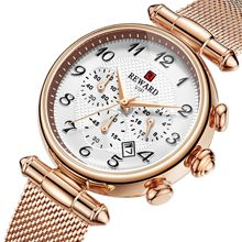 Fashion Retro Women Watch Gold Blue Date Quartz Watch Lady Mesh Watchband High Quality Casual Waterproof Ladies Wristwatch цена 2017