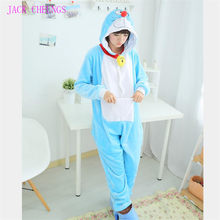 Jingle gato doraemon onesies kigurumi pijamas dos desenhos animados animal halloween cosplay traje onesies pijamas unisex, pijamas(China)
