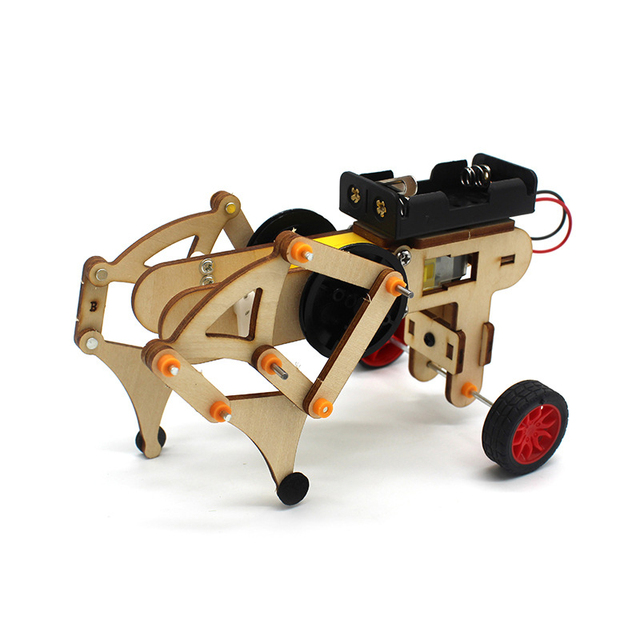 STEM Toys for Children Educational Science Experiment Technology Toy Set DIY  Wireless Remote Control Racing Model Wood Kids Toy