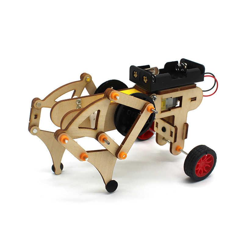 Stem Speelgoed Voor Kinderen Educatief Wetenschap Experiment Technologie Speelgoed Set Diy Draadloze Afstandsbediening Racing Model Hout Kinderen Speelgoed