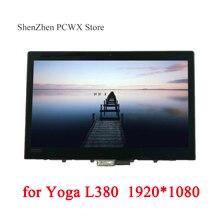 """עבור L380 יוגה 20M7 20M8 מחשבים ניידים ThinkPad 13.3 """"LCD מכלולי מגע מסך מקורי LGD 02DA313 FHD 1920*1080 IPS 72% NTSC"""