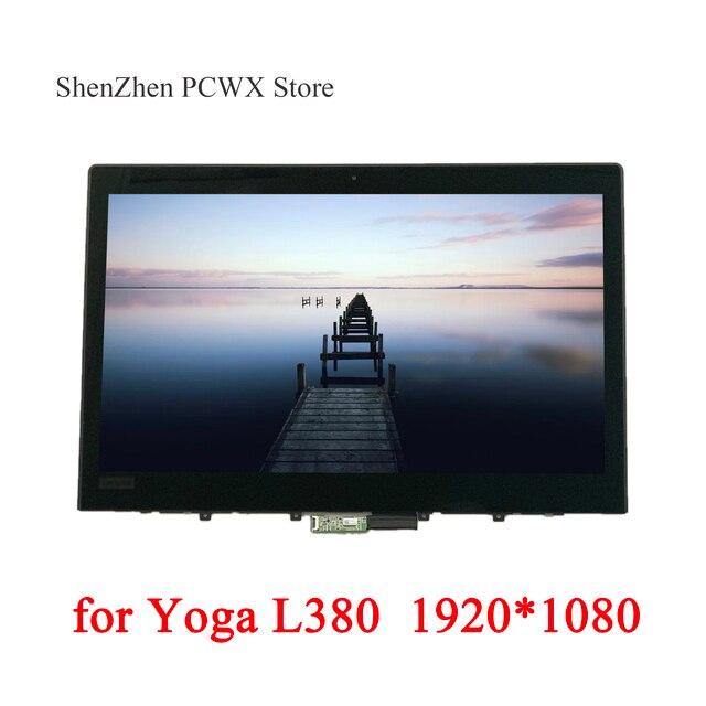 """L380 용 Yoga 20M7 20M8 노트북 ThinkPad 13.3 """"LCD 조립품 터치 스크린 기존 LGD 02DA313 FHD 1920*1080 IPS 72% NTSC 테스트"""