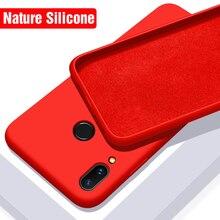 Luxury Soft Liquid Silicone Case Xiaomi Redmi Note 7 Silicon Go 6 A 6A Back Cover Xiomi Pro