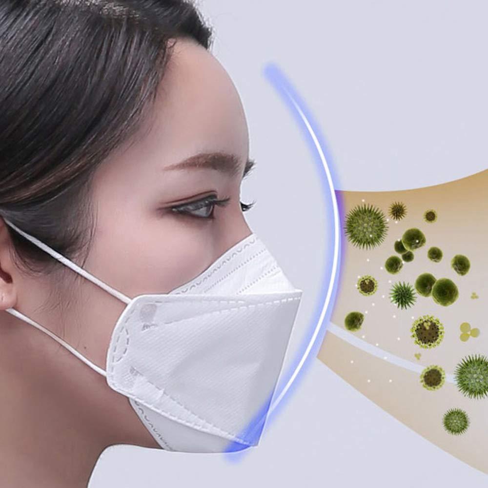 50pcs 4 Layers Dustproof Mask Disposable Facial Protective Cover Masks Set  Anti-Dust Salon Earloop Face KF94 Mask For Koreakf94
