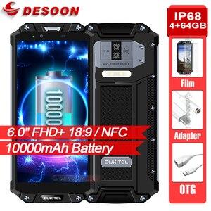 """OUKITEL WP2 10000mAh Smartphone IP68 Waterproof 6.0"""" 18:9 Screen Mobile Phone 4GB 64GB MT6750T Octa Core Fingerprint NFC Phone(China)"""