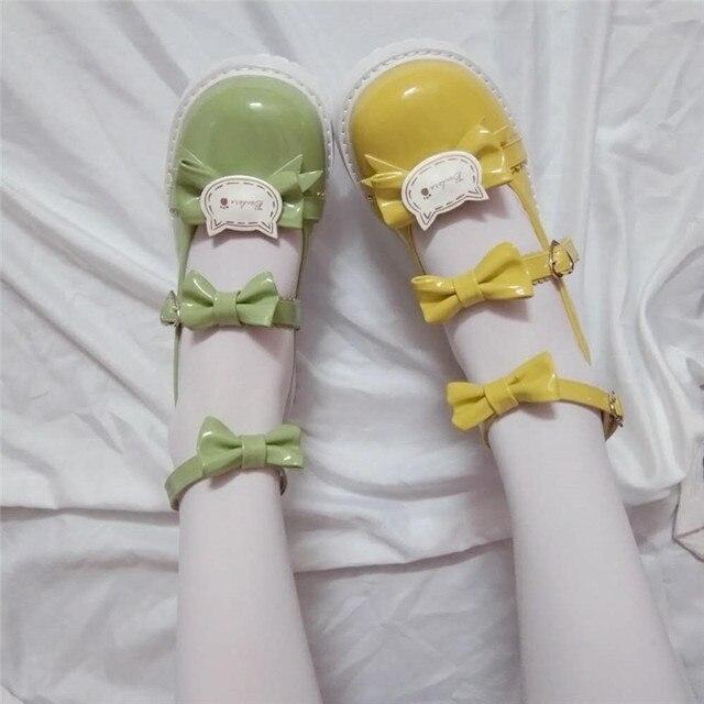 Фото японский из лакированной кожи туфли в стиле лолита винтажном цена