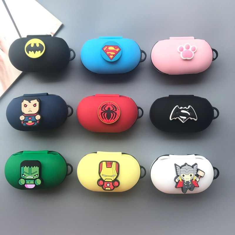 Cartoon Cute Silicone Earphone Case For Samsung Galaxy Buds 2019 Shockproof Bluetooth Ultra Thin Earphone Cover For Galaxy Buds