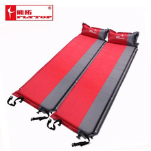2015 Hot sale (170+25)*65*5cm single person automatic inflatable mattress outdoor camping fishing beach mat on sale/ wholesale