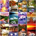 5d алмазная живопись, полные квадратные/круглые лебеди, алмазная вышивка, животные, мозаика, распродажа картин стразы, искусство, украшение д...