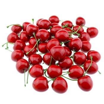 Promocja-sztuczna realistyczna symulacja czerwone wiśnie sztuczne owoce do dekoracji imprez (opakowanie 50 sztuk) tanie i dobre opinie
