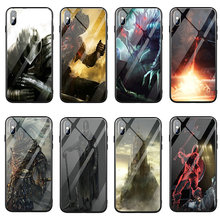 Fashion Dark Souls Tempered Glass Phone Accessories Case for iPhone