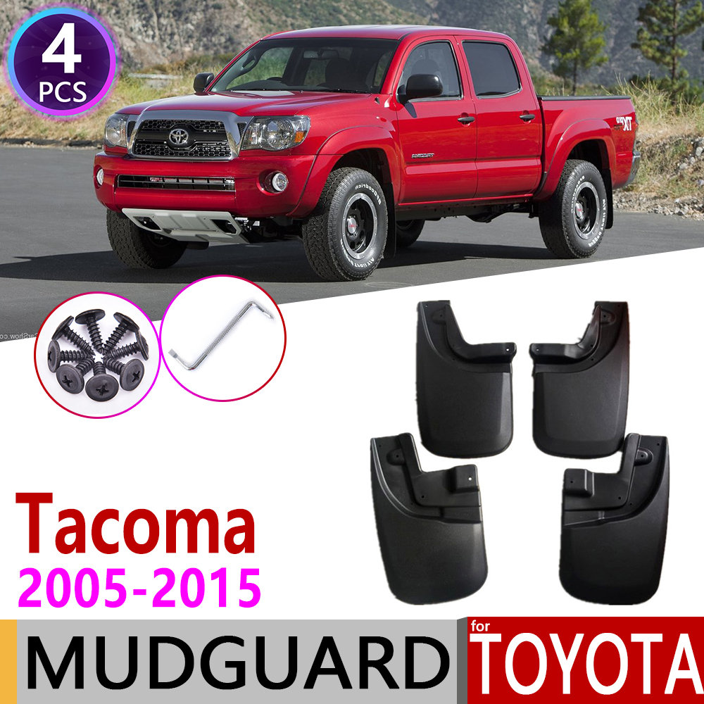 Car Mudflap For Toyota Tacoma 2005~2015 Fender Mud Guard Splash Flaps Mudguards Accessories 2006 2007 2008 2009 2010 2011 2012