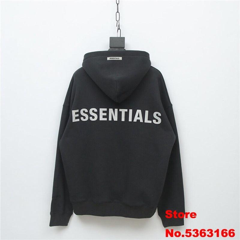 Sureme 2020 Top Version FOG ESSENTIALS 3M Reflective Hoodies Sweatshirts Men Women Oversized Winter Thick Hoodies Pullovers