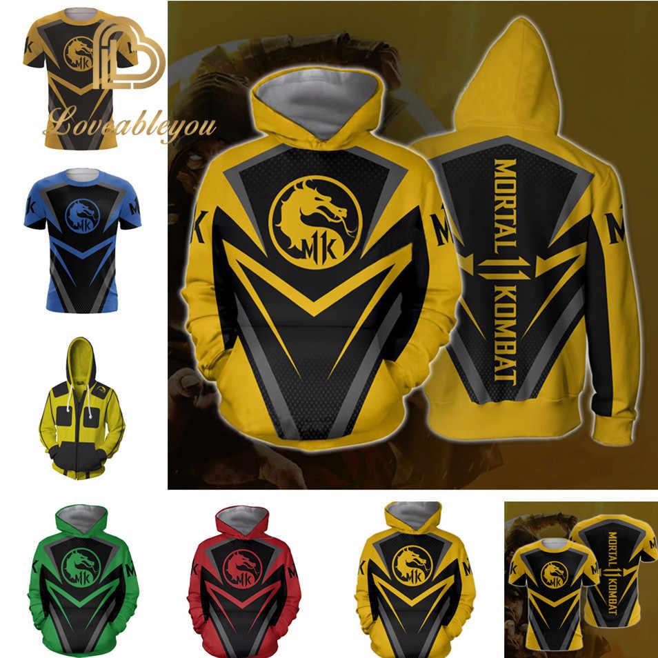 Mortal Kombat X Sub Zero Scorpion T Shirt Cosplay Costume Men