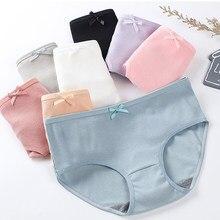 Calcinha de algodão do sexo feminino sexy lingerie macia cuecas de renda para a mulher algodão cor sólida pantys lado malha