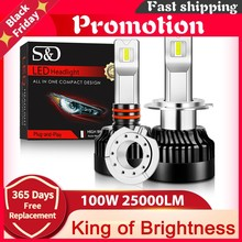 100W 25000Lm H1 H11 H7 AMPOULES DE PHARES LED Canbus H4 LED H8 H9 9005 HB3 9006 HB4 9012 HIR2 lampe VOITURES Feux 300% Lumineux