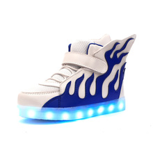 Fashion Children LED Shoes Good Quality  Light Up Sole Glowing Sneakers For Girls Boys Student Kids shoes стоимость