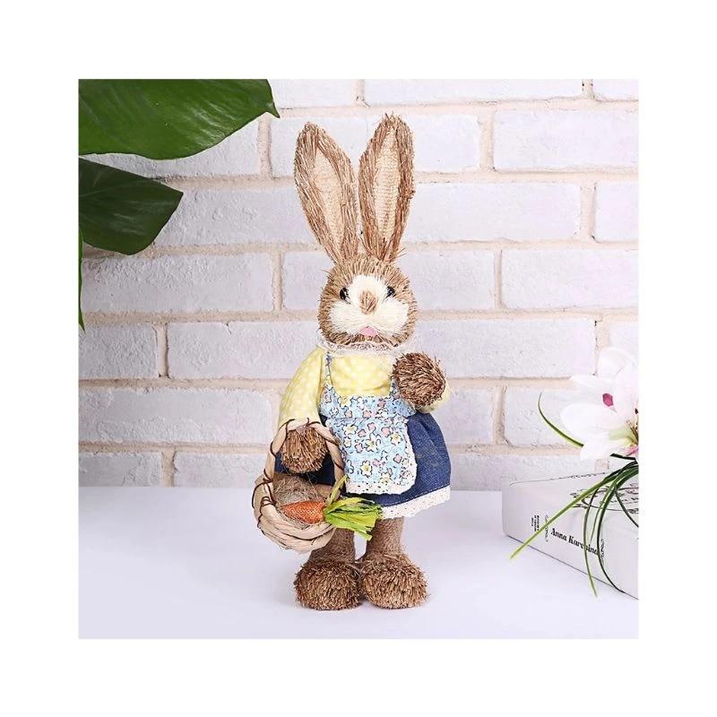 Country Rabbit Decoration Easter Ornaments Summer Garland Spring Garland Bunny Rabbit Felt Ornaments Neutral Spring Farmhouse Decor