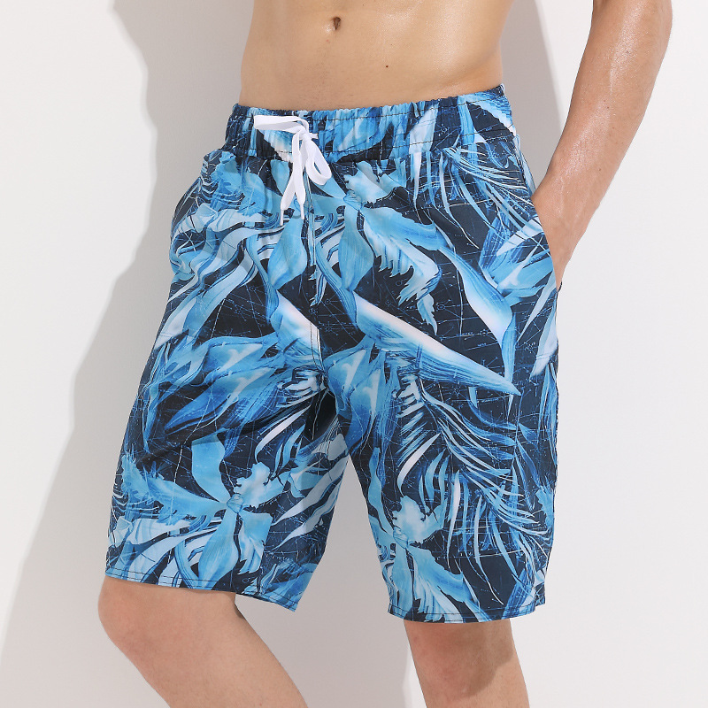 Sbart 2018 Summer Holiday Printed Beach Shorts Men's Quick-Dry Large Size Loose-Fit Shorts Casual Shorts