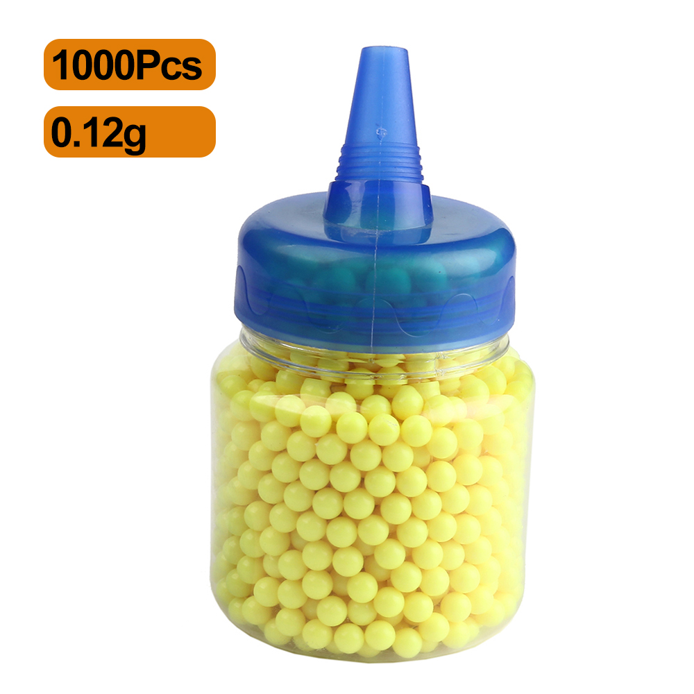 1000 pçs tiro airsoft gun plástico bb bolas de bala pelotas caça paintball contas munição pistola tática bbs com bottle