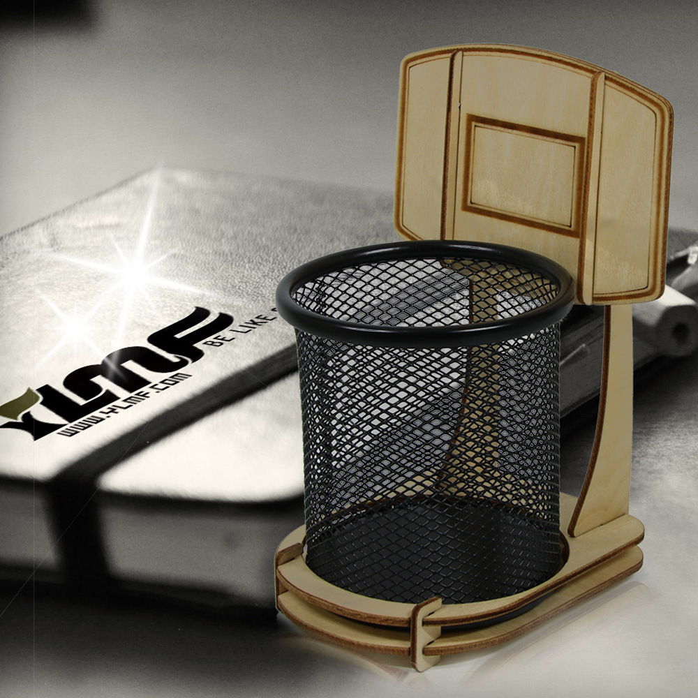 Basketball Stand Pen Holder Basketball Metal Pencil Holder As Decompression Toy