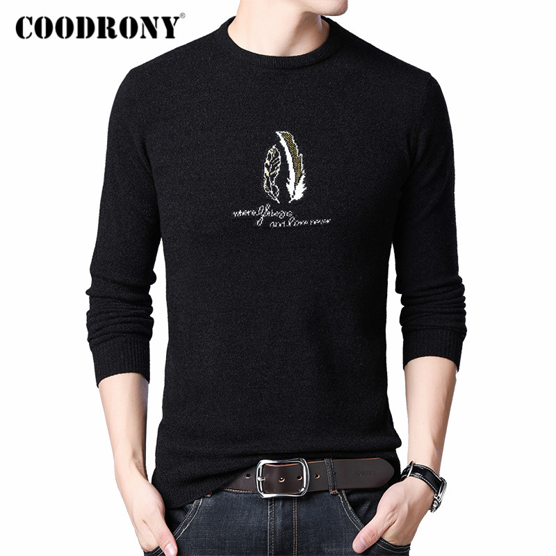 COODRONY Brand Sweater Men Fashion Knitwear Pull Homme 2019 Autumn Winter Soft Warm Sweaters Cotton Pullover Jersey Hombre C1018