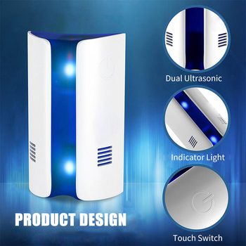 New Anti-mosquito Killer Ultrasonic Mosquito Killer Indoor Pest Repeller Electronic Vermin Repeller Insect Bug Mole Repeller