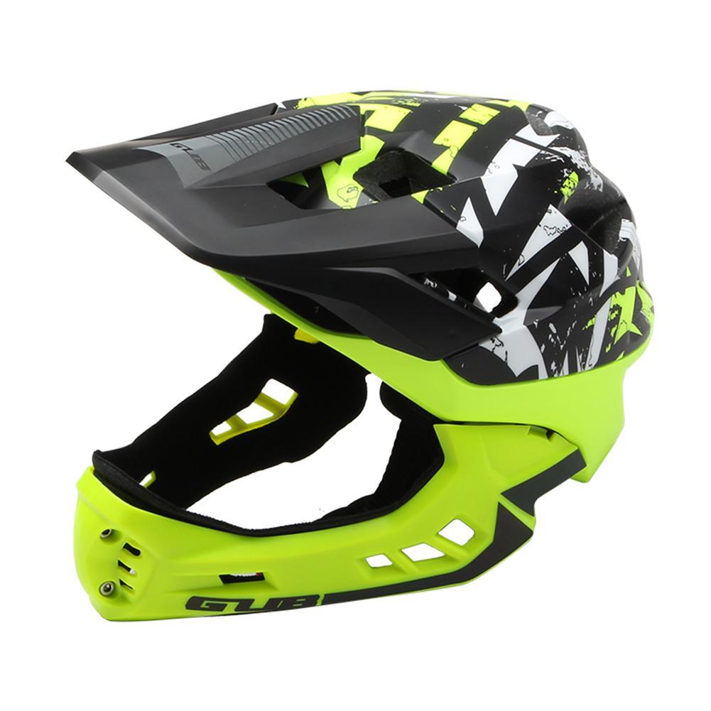 Enfants formateur complet couvert casque de vélo descente DH plein visage enfants vélo sport sécurité casque garçons plein visage vélo casque