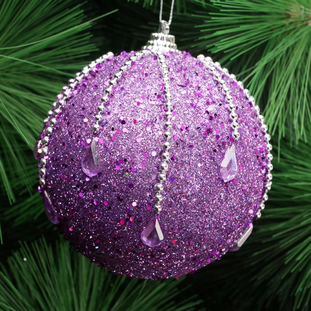 Glittery Sequins Chain Foam Ball Bauble Christmas Tree Pendant Hanging Decor Perfect Decor For Christmas Engagement Anniversary