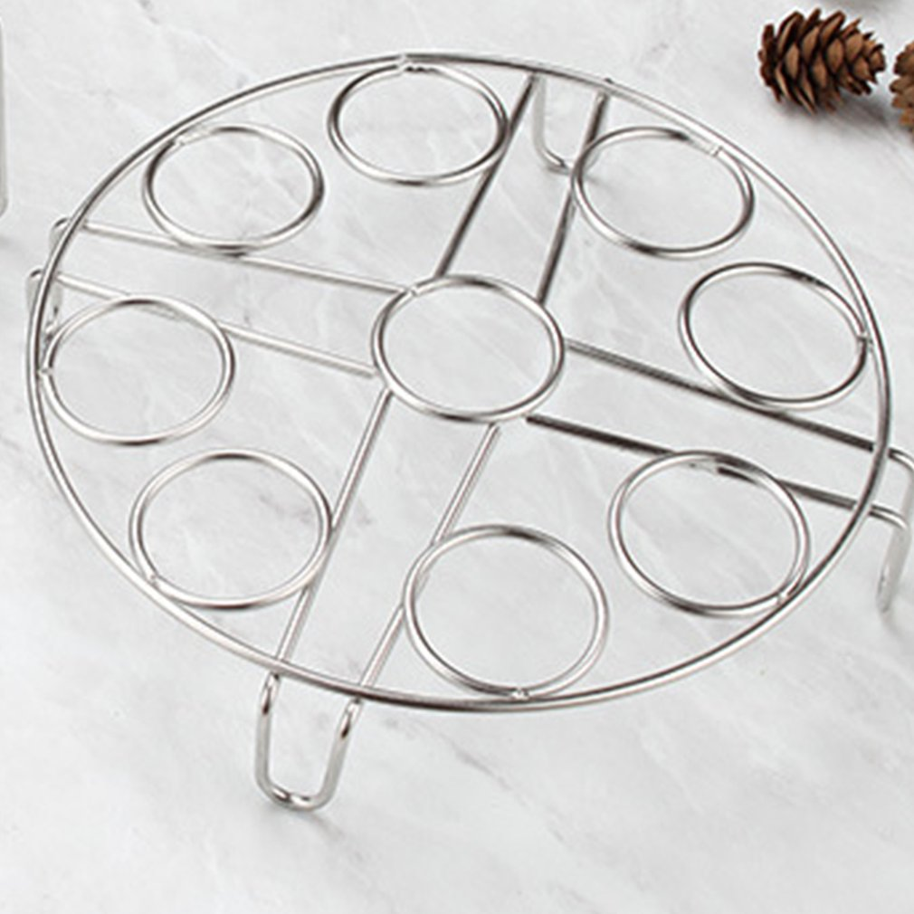 304 Stainless Steel 9 Eggs Steamer Rack Multifunction Boiled Egg Holder Kitchen Food Steam Stand Cooking Tools