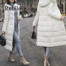 Rubilove 2019 Winter Jacket Female Parka Coat Plus size M-6XL Fashion Down Long Hoodie Thick Women